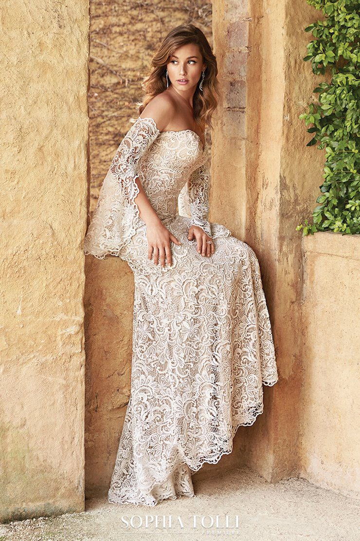 Luxe Bohemian Lace Wedding Dress Azaria