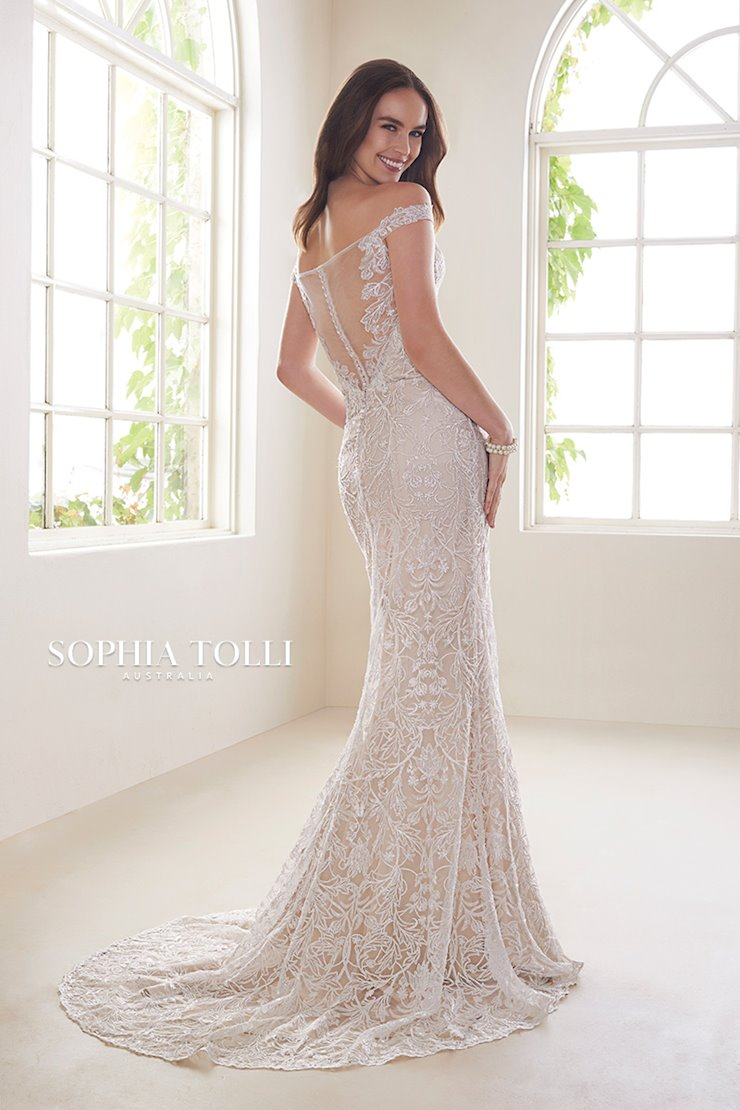Unique Lace Two-Piece Wedding Gown Diamond