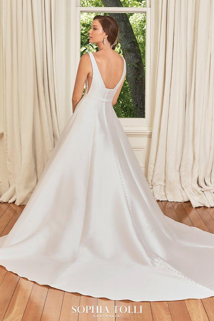 Modern Mikado Wedding Dress with Pockets Natalie Grace