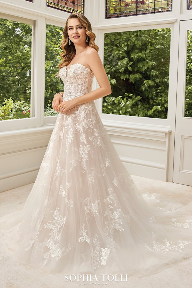 Romantic Floral A-Line Wedding Gown Rosa
