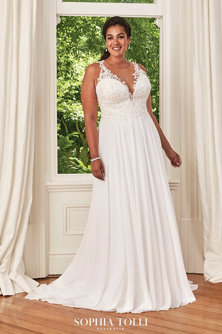 Boho A-Line Chiffon Wedding Dress with Lace Christabel