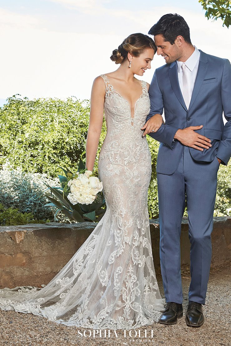 Glamorous Wedding Gown with Pearl Beading Ciara