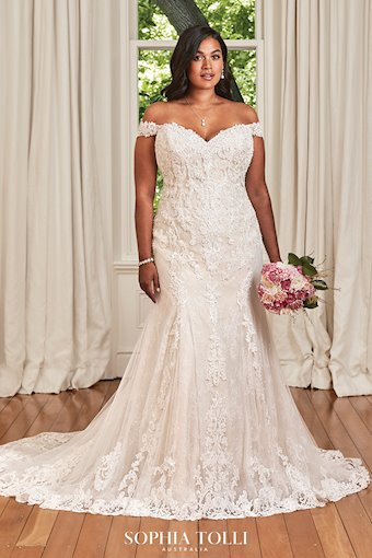 Timeless Fit and Flare Lace Wedding Gown Kacey