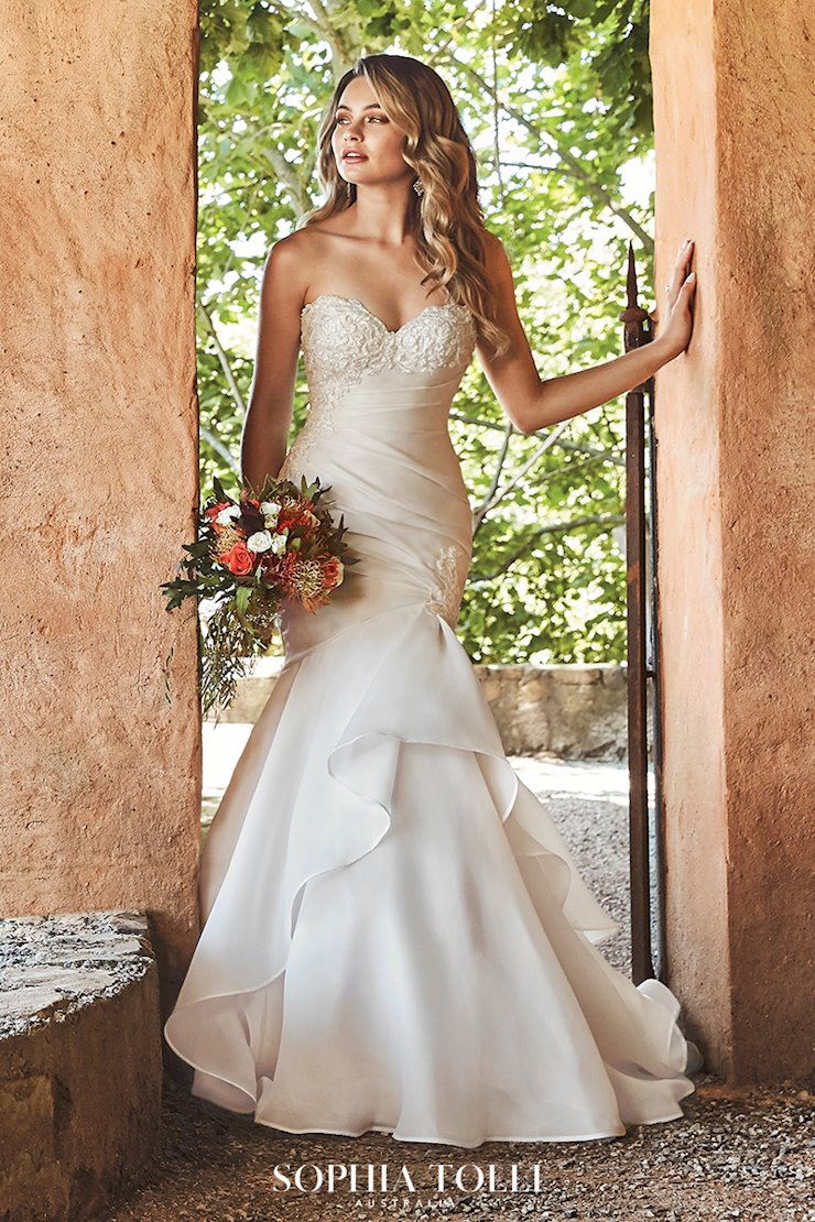Dramatic Strapless Organza Wedding Dress Janelle