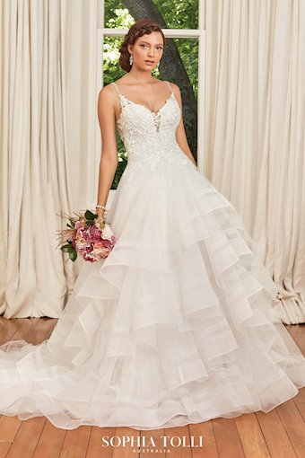 Beaded Princess Ballgown with Tiered Skirt Alesha
