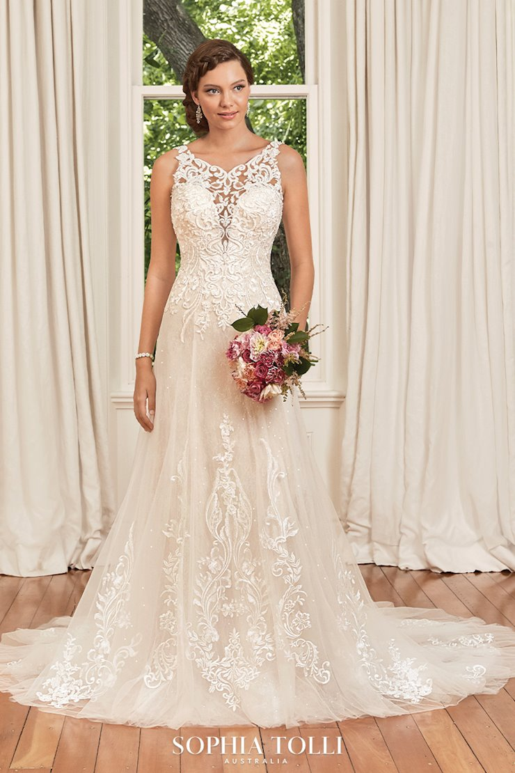 Classic Lace High Neck Wedding Dress Georgia