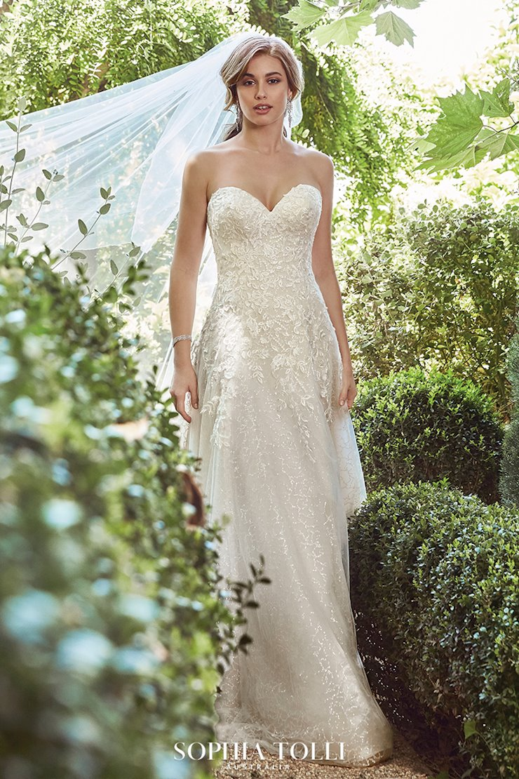 Sparkling Floral A-Line Wedding Dress Avery