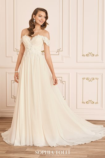 Romantic Boho Wedding Dress with Floral Lace Esther