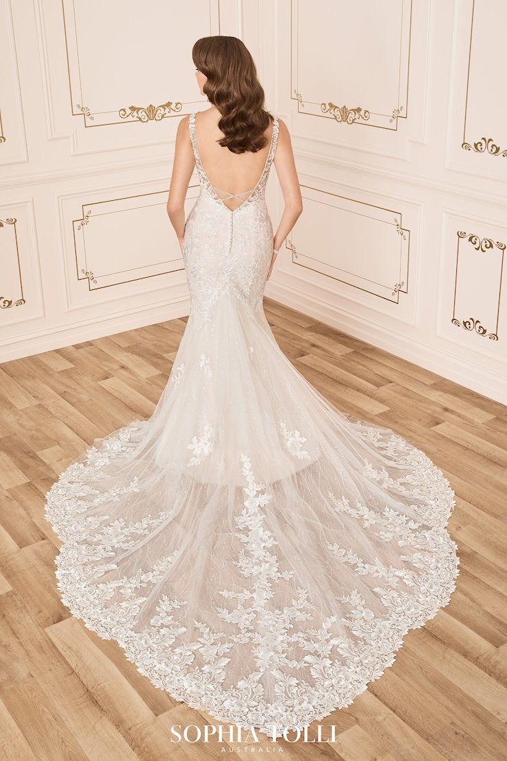 Stunning Lace Wedding Dress with Low Back Aaliyah