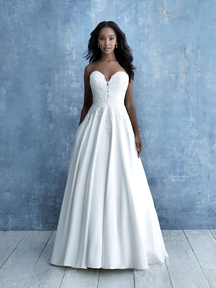 Allure Style #9713 Strapless Sweetheart A-line Wedding Dress with Subtle Tonal Beading Image
