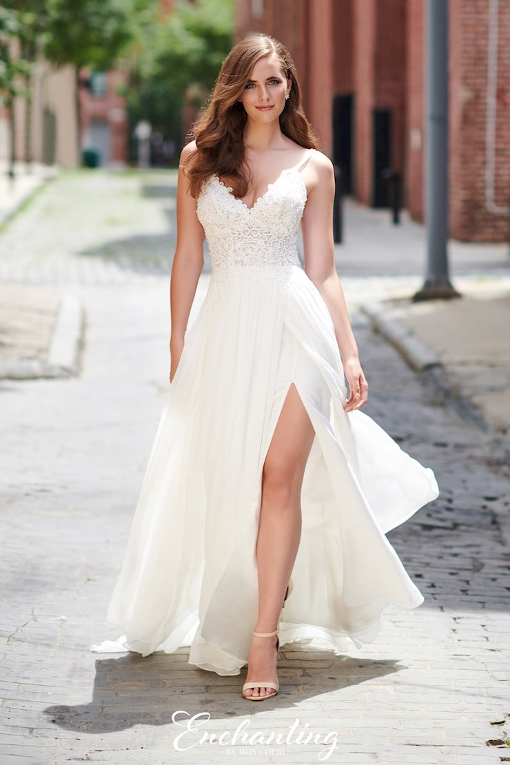 Breezy Lace and Chiffon A-line Gown