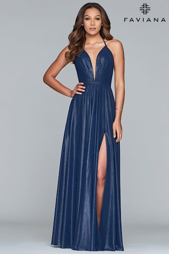 Faviana Prom Dresses Elegant Long Blue Formal Gown
