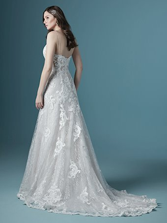Maggie Sottero Style #Tuscany Sexy Lace Mermaid Wedding Dress with Beaded Spaghetti Straps