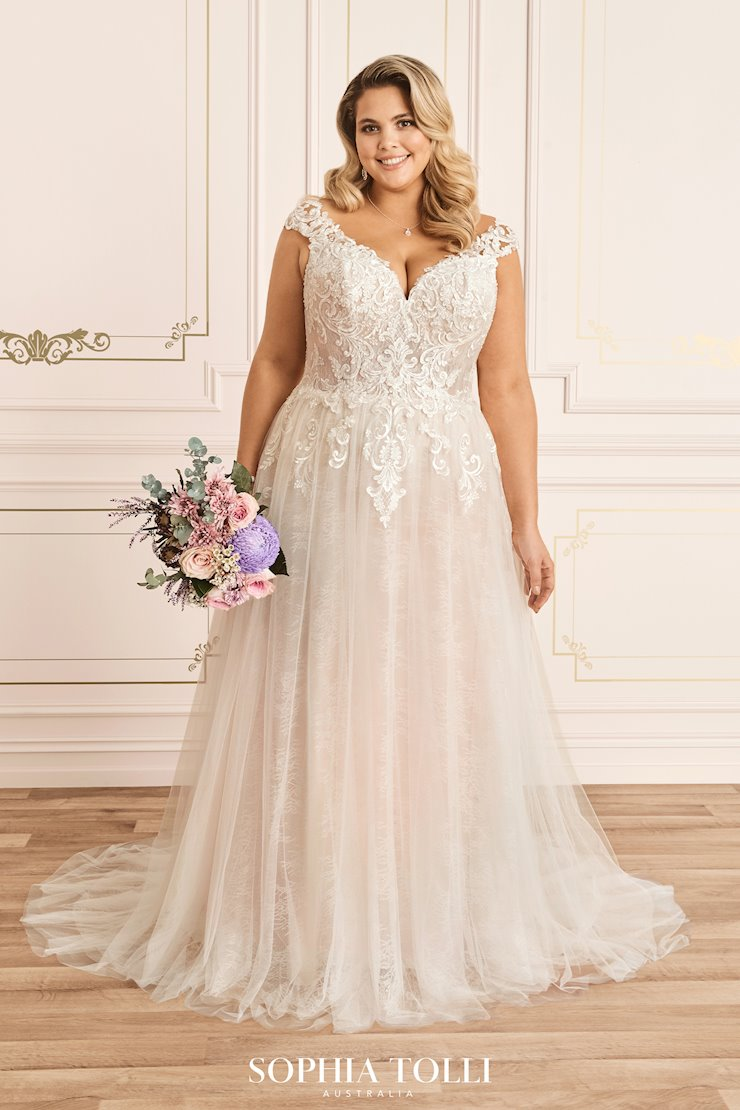 Dreamy A-Line Wedding Gown with Cap Sleeves Kaydence