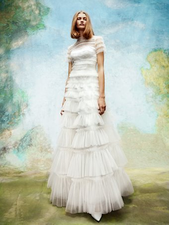 Viktor & Rolf Style #Embellished Tulle Ruffle Gown