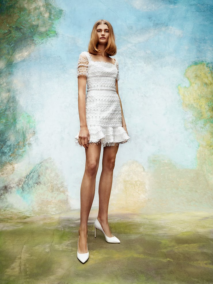 Viktor & Rolf Frosted Lace Mini Dress