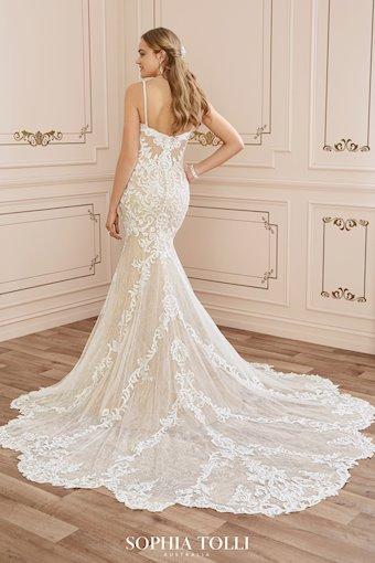 Sexy Lace Wedding Dress with Sheer Train Tamara