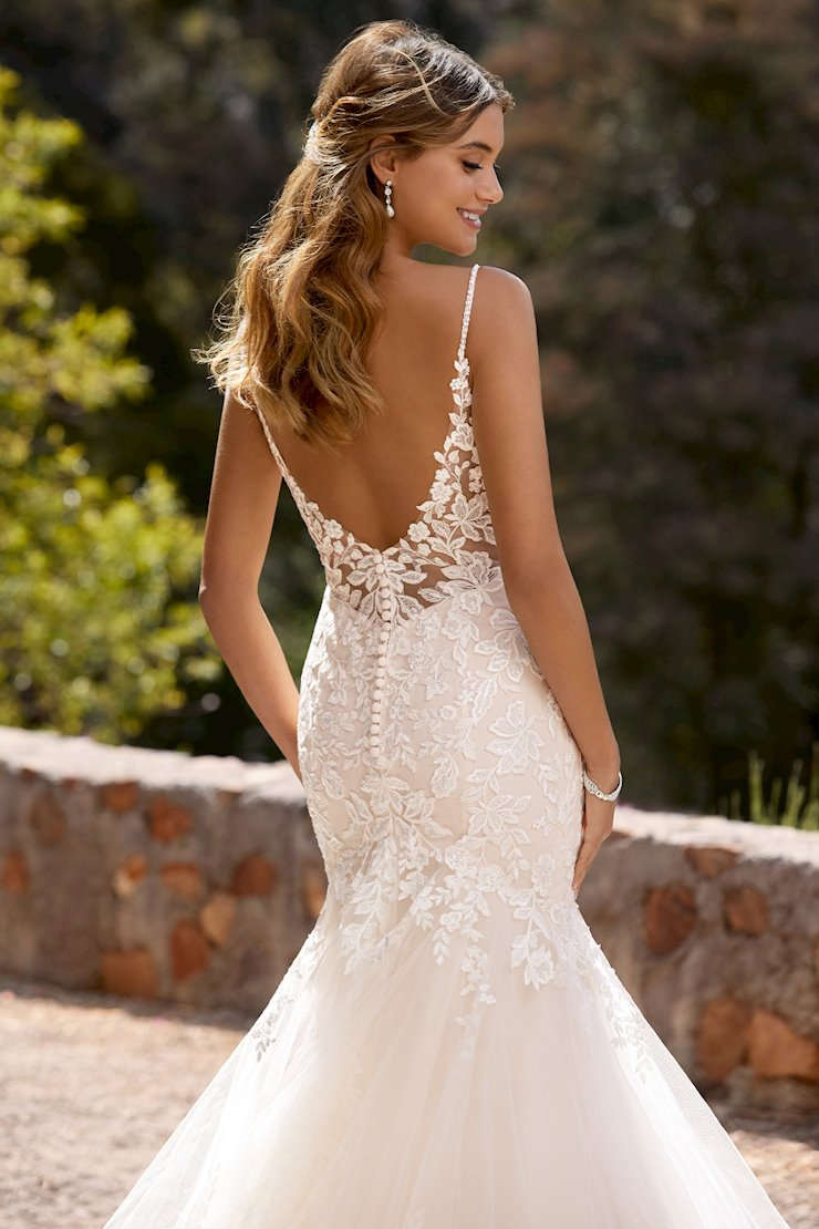 Stunning Mermaid Gown with Floral Details Skylar