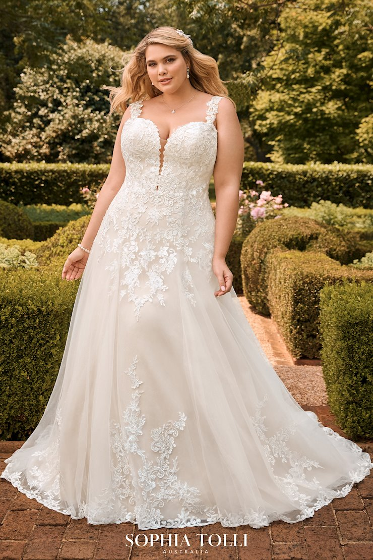 Classic Sparkling A-Line Wedding Dress Montana