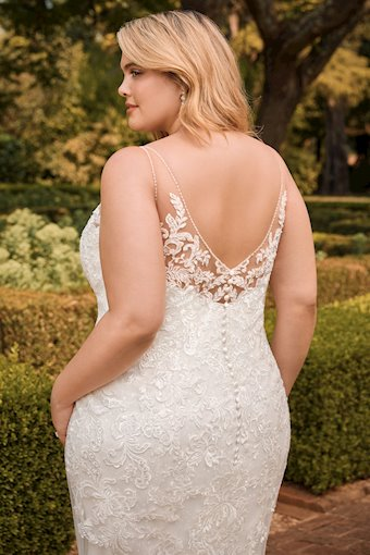 Sexy Vintage Lace Fit and Flare Wedding Gown Mischa
