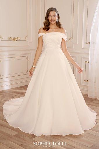 Unique Luxe Organza A-Line Wedding Dress Meika