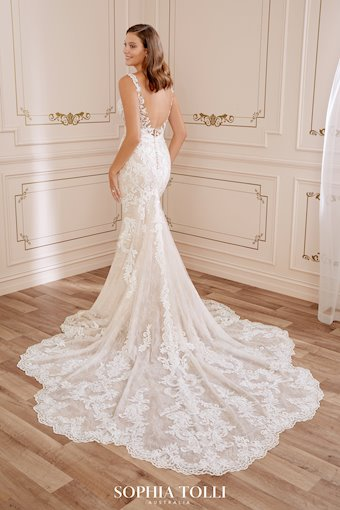 Striking Lace Wedding Dress with Sheer Details Charlotte