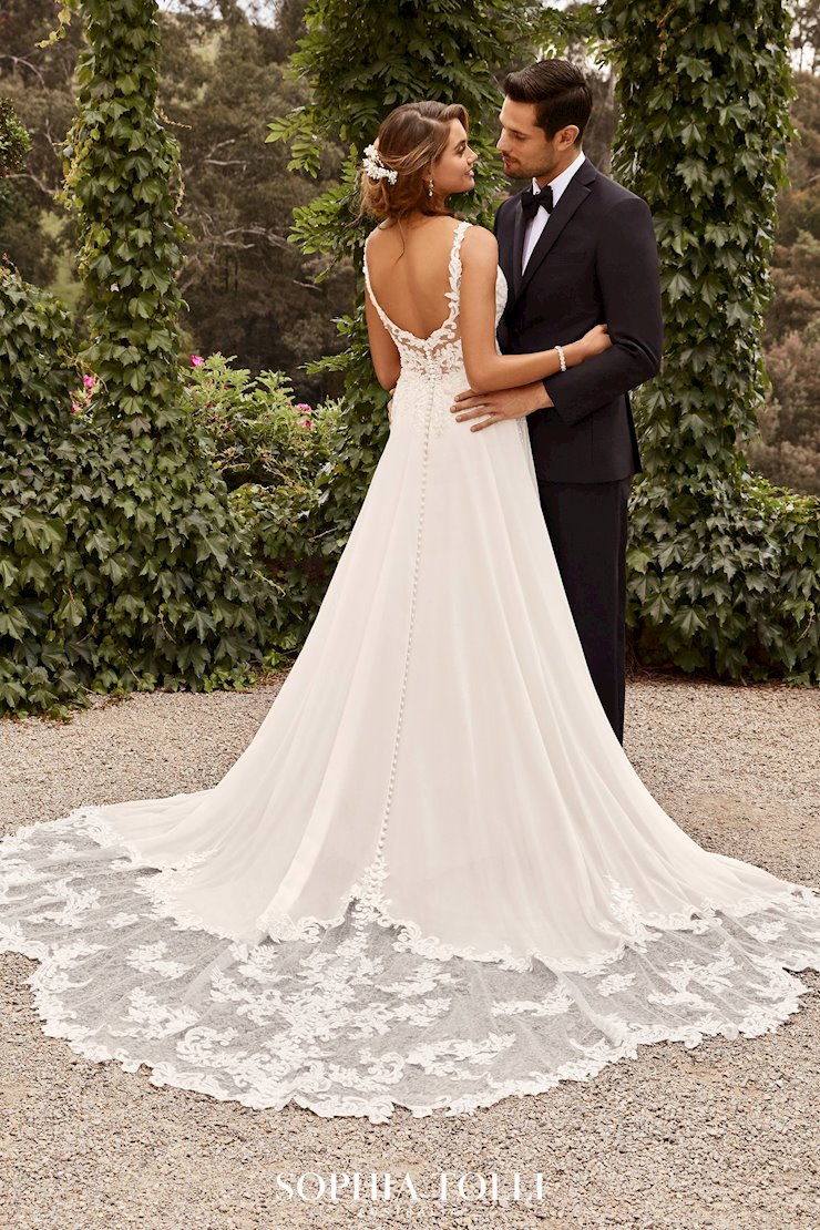 Ethereal Dreamy Chiffon A-Line Wedding Gown Georgina