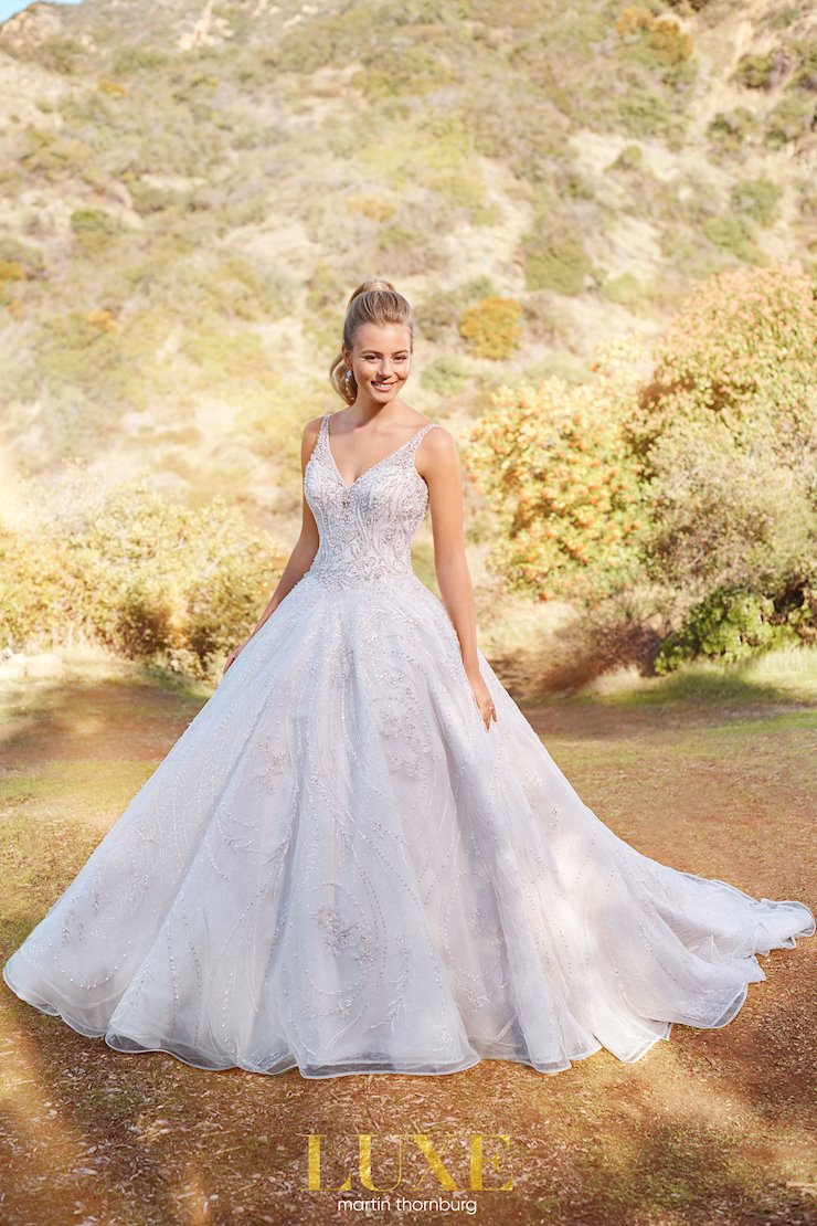 Clemente Princess-worthy sequin tulle ball gown with sweetheart bodice
