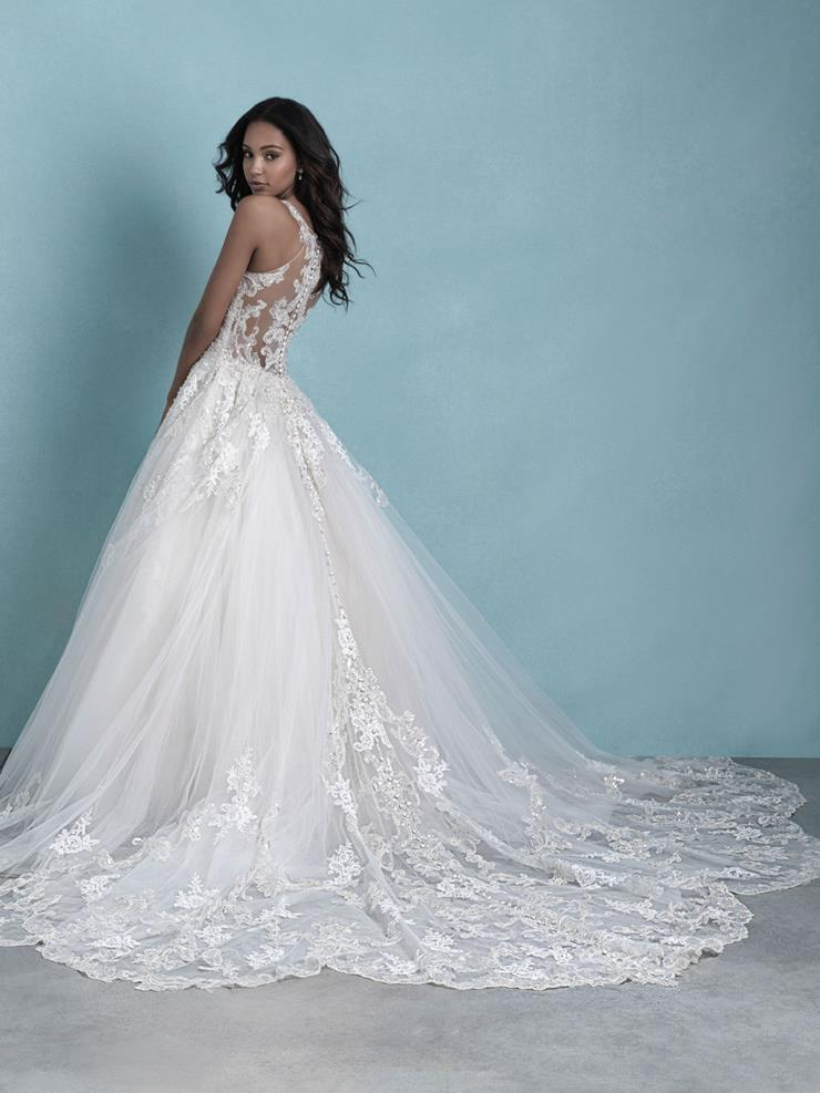 Allure Style #9775 Sleeveless V-Neck Tulle Ball Gown Wedding Dress With Beautiful Illusion Lace Back  Image