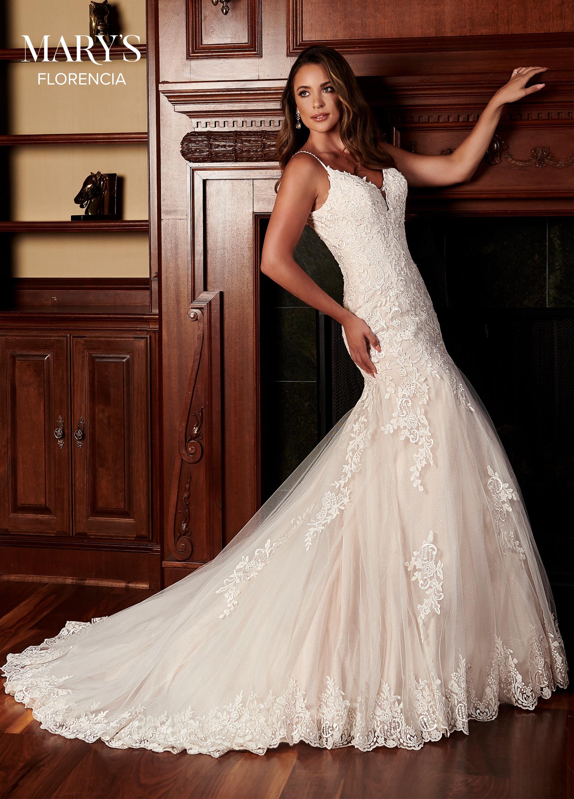 Scoop Neck Mermaid Bridal Dresses in Color   Style - M783