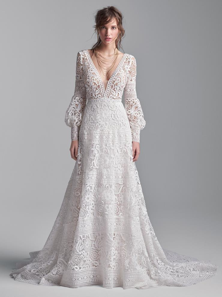 Sottero and Midgley Style #Finley Long Sleeve, Bishop Sleeve Vintage A-line Wedding Dress  Image