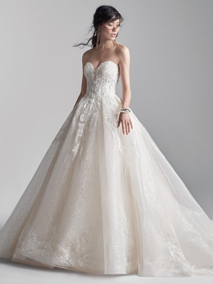 Sottero and Midgley Style #Troy Shimmery, Strapless Tulle Ball Gown Wedding Dress with Swarovski crystals Image