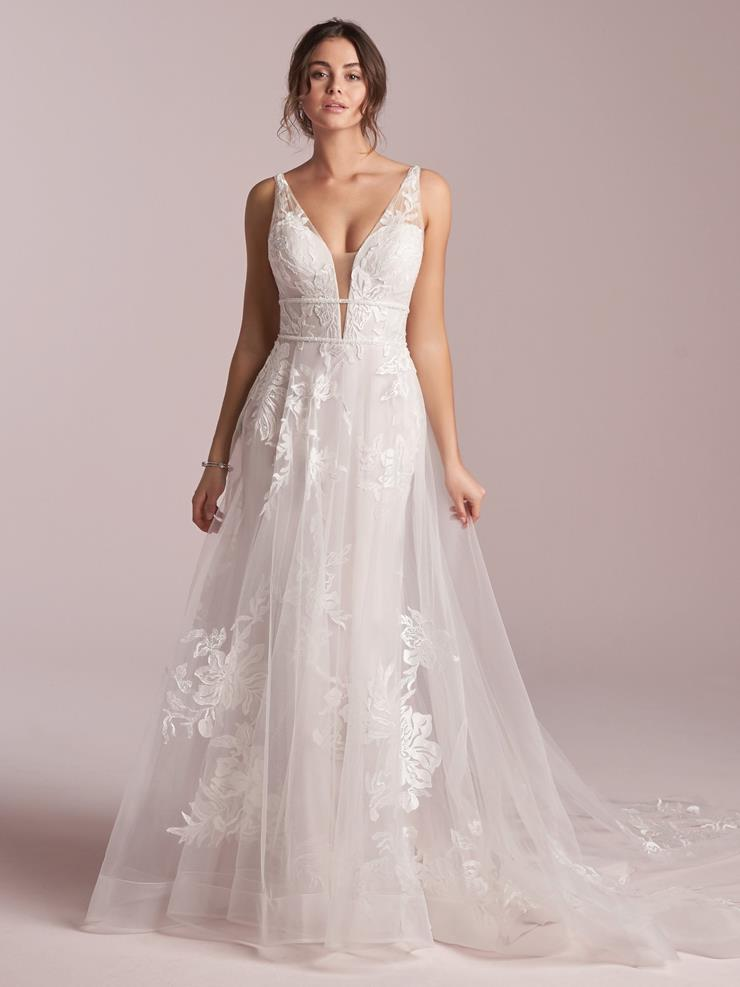 Rebecca Ingram Style #Priscilla Romantic Tulle A-line Wedding Gown with Beading and Lace