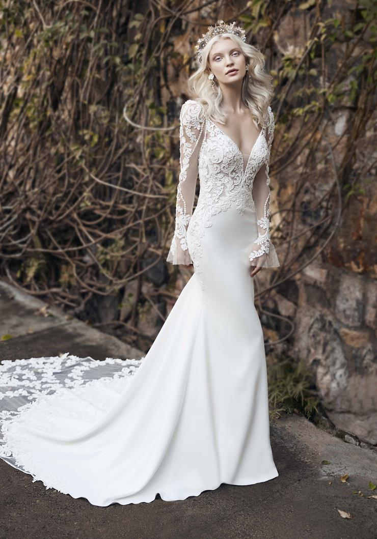 Maggie Sottero Style #Nikki Bell Sleeve Mermaid Wedding Gown