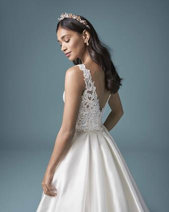 Maggie Sottero Style #Sonnet Satin Princess Wedding Gown with Beaded Bodice