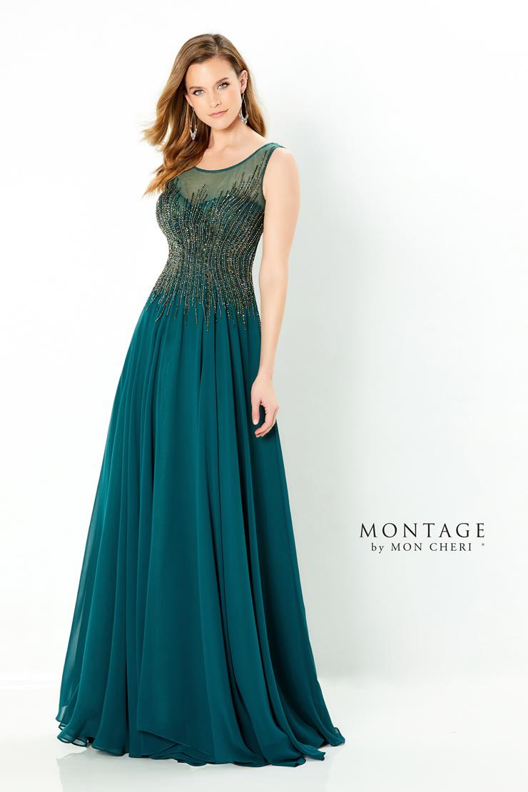 Montage Style #220939 Sleeveless Chiffon A-line Mother's Dress with Jewel Neckline and Waist  Image