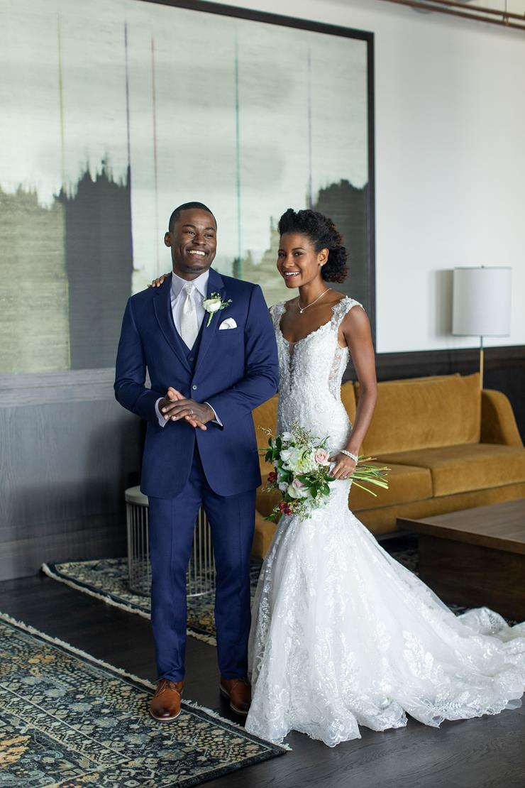 Menswear Blue Wedding Suit Image