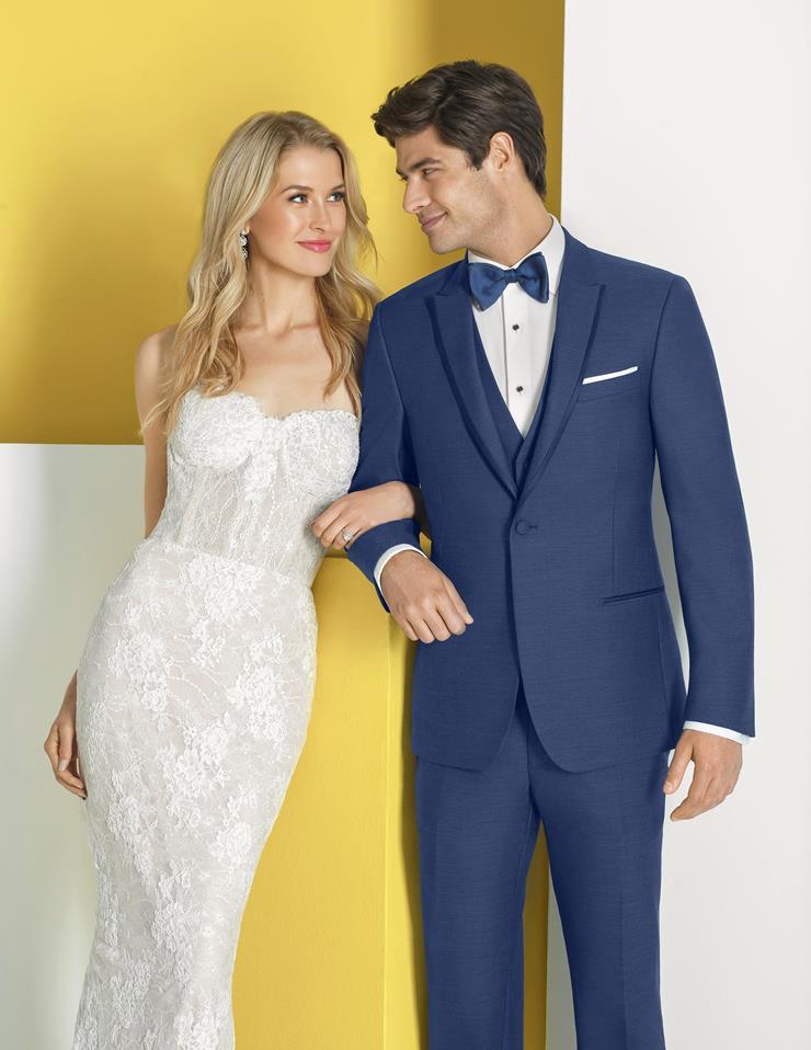 Menswear Indigo Blue Suit  Image
