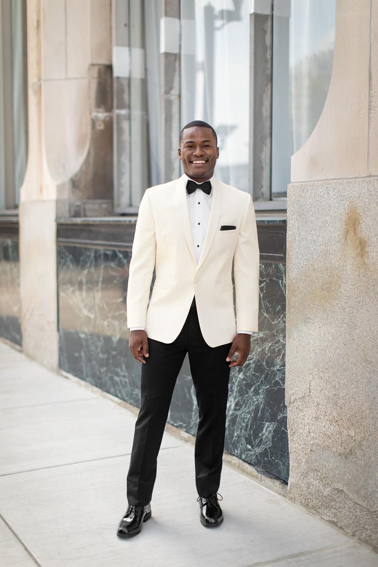 Menswear Ivory Shawl Jacket  Image
