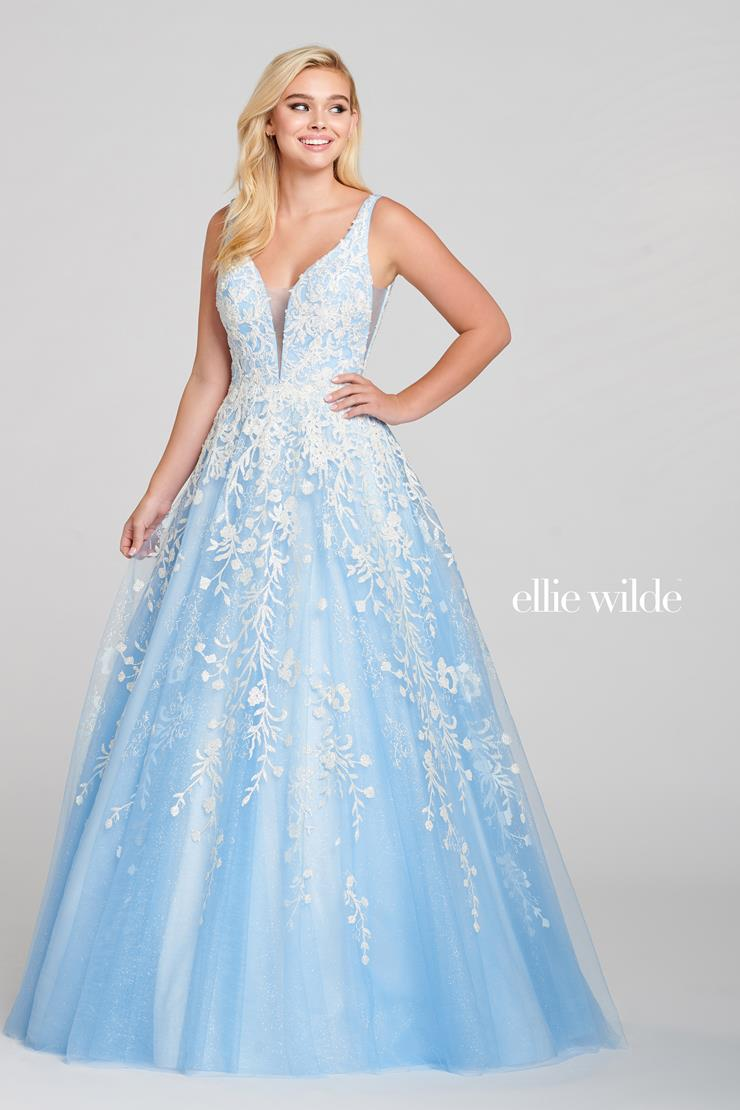 Ellie Wilde Prom Dresses Ice Blue Tulle Ball Gown