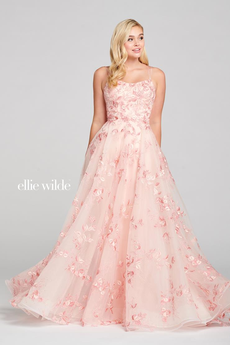 Ellie Wilde Prom Dresses Long Pink A-Line Prom Dress