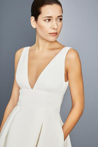 Amsale Little White Dress Style #LW152