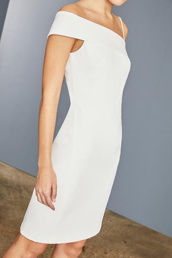 Amsale Little White Dress Style #LW156