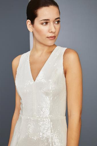 Amsale Little White Dress Style #LW159