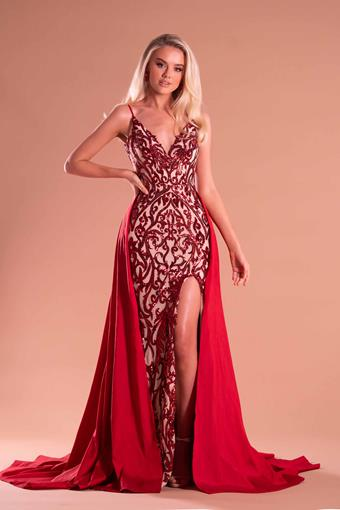 Portia and Scarlett Style PS21223 RED NUDE
