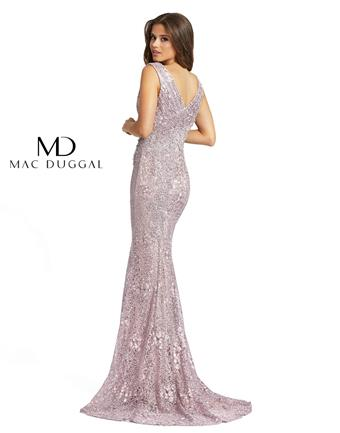 Mac Duggal Style #20159D Lace and Beaded V-neck Mermaid Mother's Dress