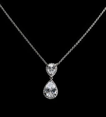 Style #CZN05212075 CZ Clear Silver