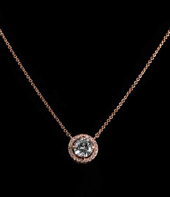 Style #CZN06110075 CZ Clear Rose Gold