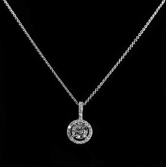 Style #CZN06310075 CZ Clear Silver