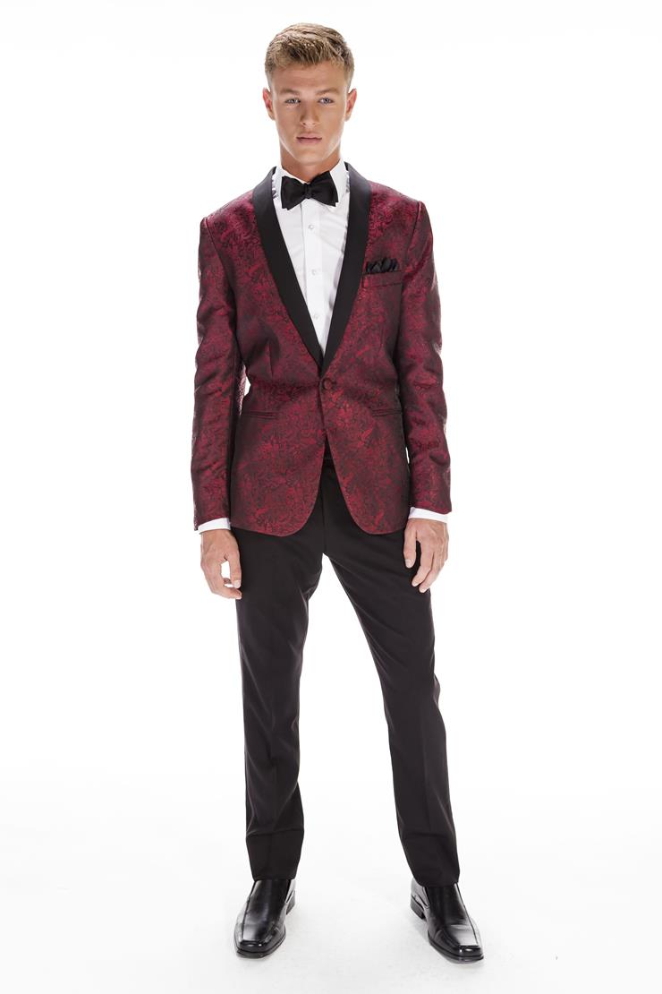 Jim's Formal Wear Style #APPLE RED PAISLEY ARIES - MARK OF DISTINCTION  Image